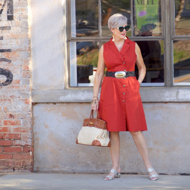 beth from Style at a Certain Age wears a dress from JC Penney