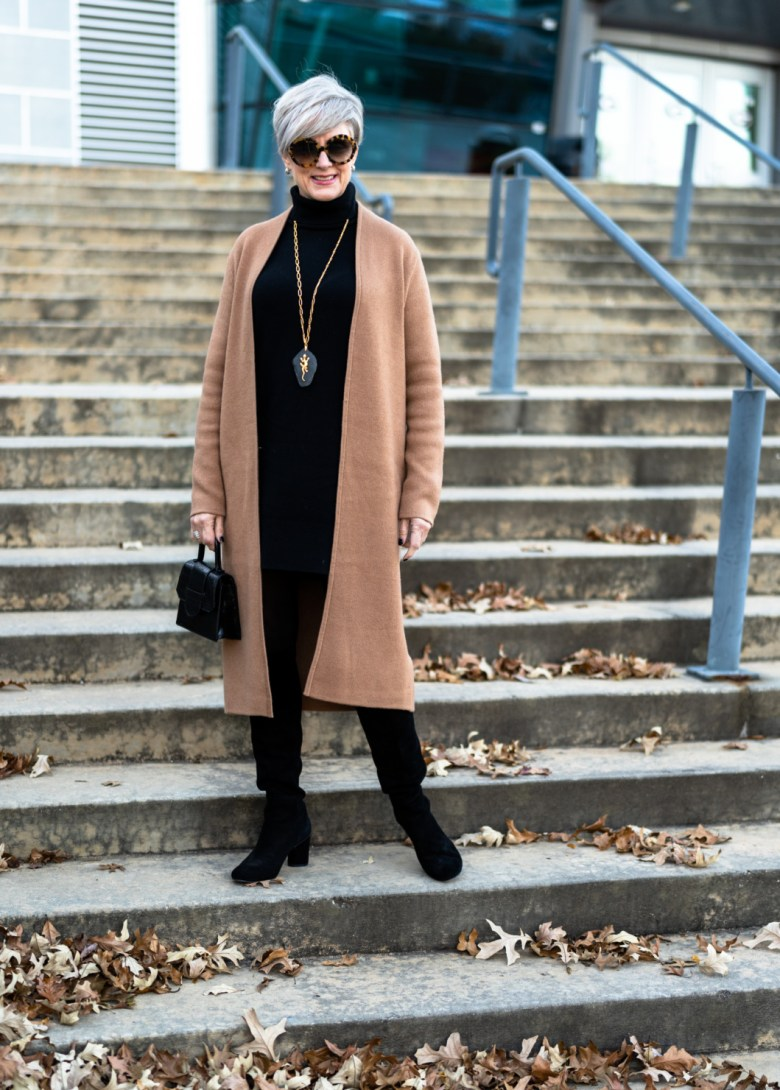 cashmere, cardigans and boots