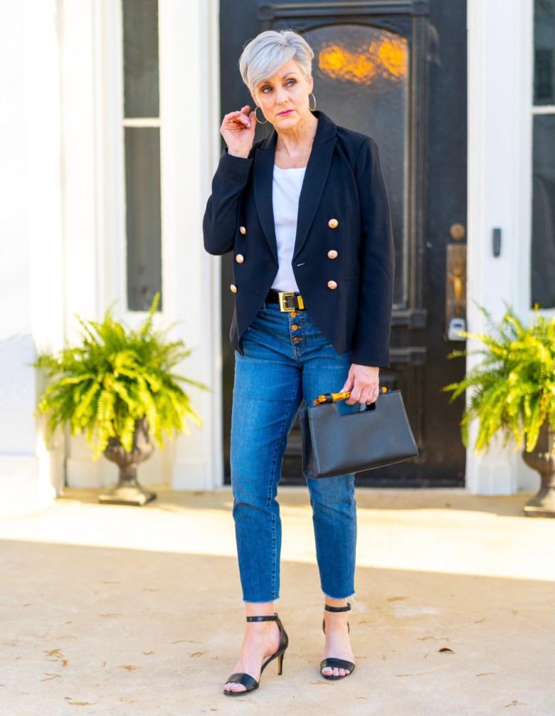 shopping on a budget black blazer