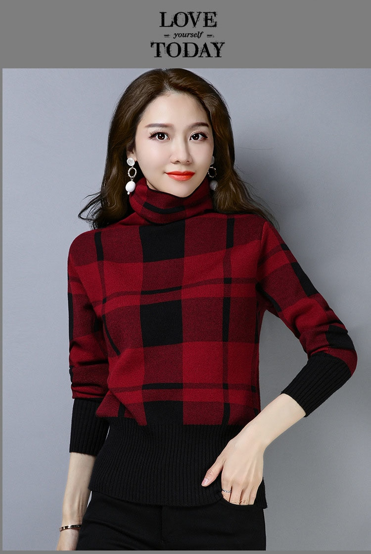 New Style Head Slim Lace Bottoming Knitted Sweater