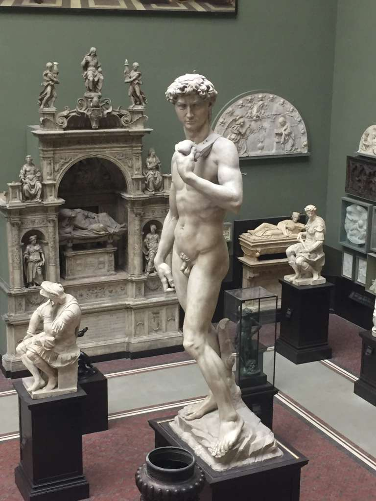 Cast form of Michelangelo's David at the V&A Museum