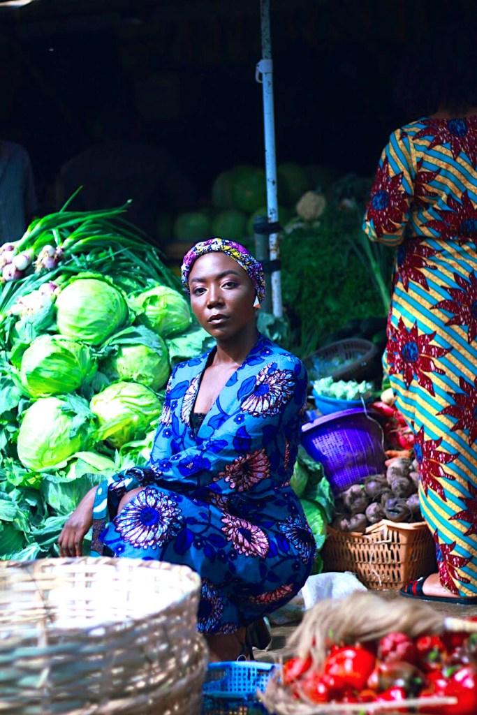 Ankara print in a nigerian market