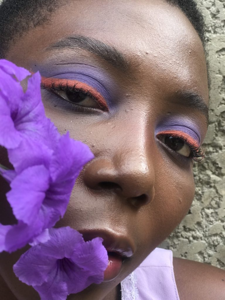 purple and orange euphoria inspired makeup