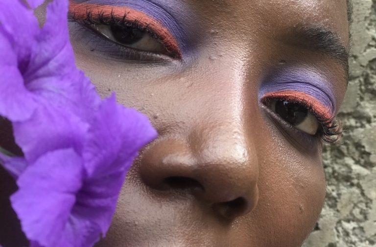 purple and orange euphoria inspired makeup