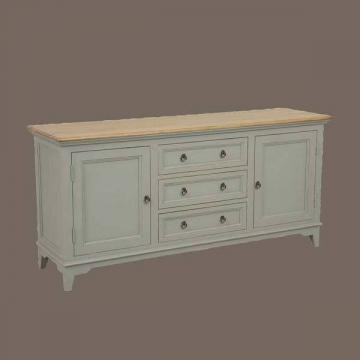 style campagne buffet bas 2 portes