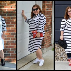 Shop Your Closet:  The Striped Shirtdress, Part One + A Look at my Eloquii Style & Substance Shoot