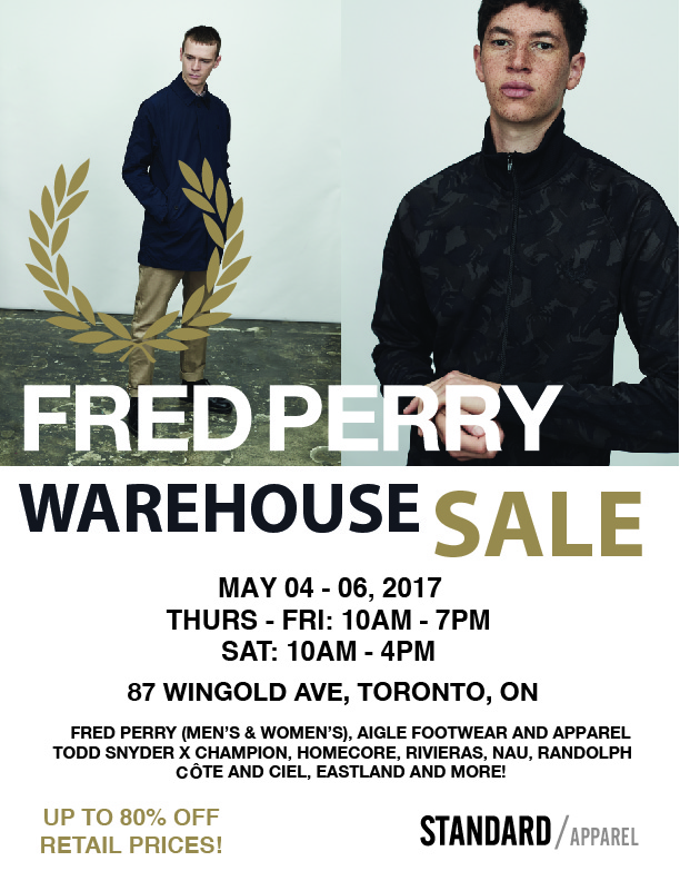 fred perry warehouse sale