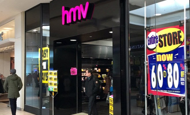hmv liquidation sale