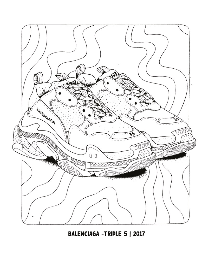Urban Media Sneaker Coloring Book Books At Stylefile