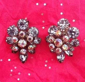 A pair of my beloved vintage art deco earrings. Thanks, Mom!