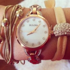 Our Bulova layered perfectly with our fave bracelets.