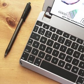 Incredibly Compact: The Brydge iPad mini keyboard is about the length and depth of a pen.