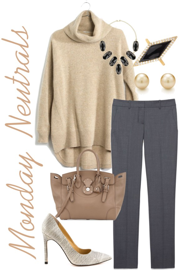 Monday Work Outfit Neutrals Casual