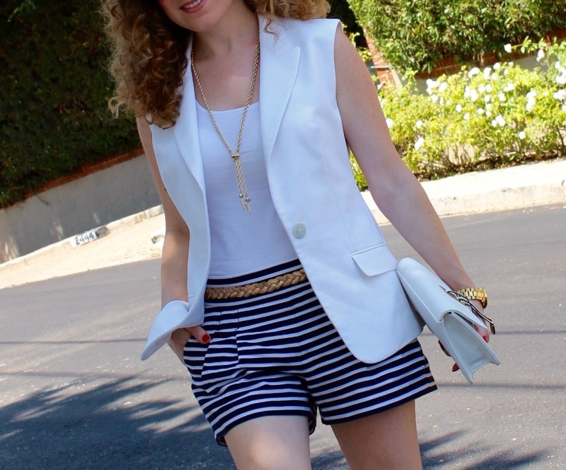Striped Shorts_White Vest_Details_3