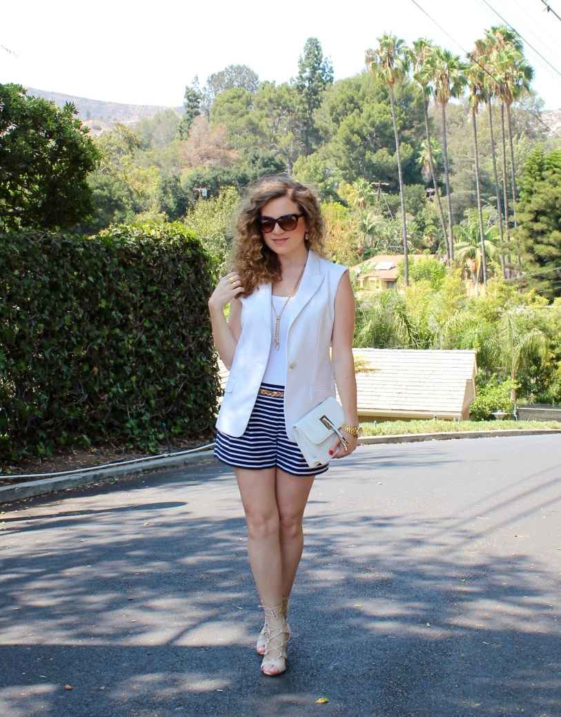 White Vest_Striped Shorts_2