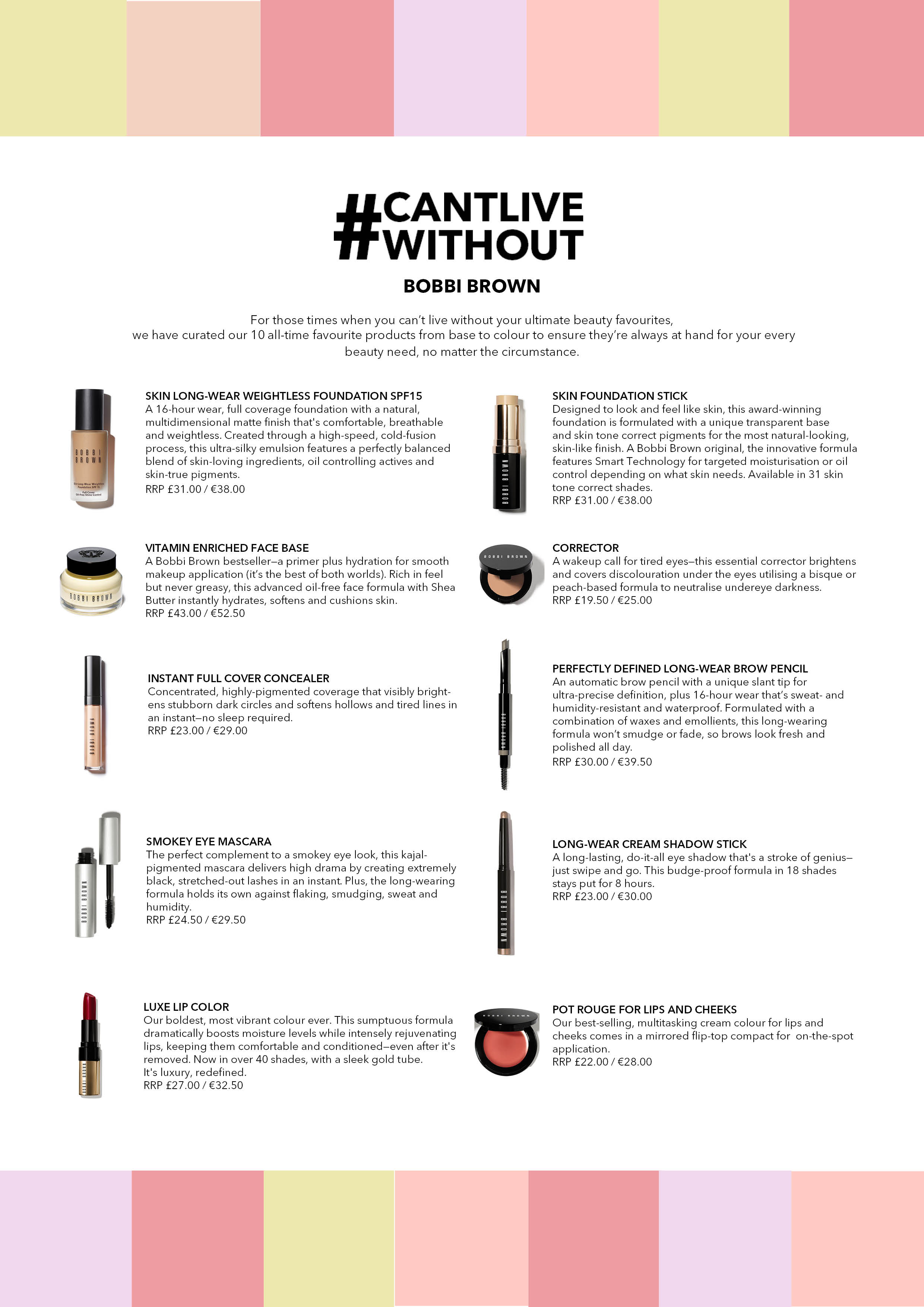 Bobbi Brown Can't Live Without