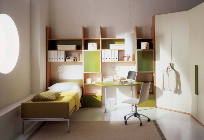 Kids Bedroom with Study Table - StyleHomes.net