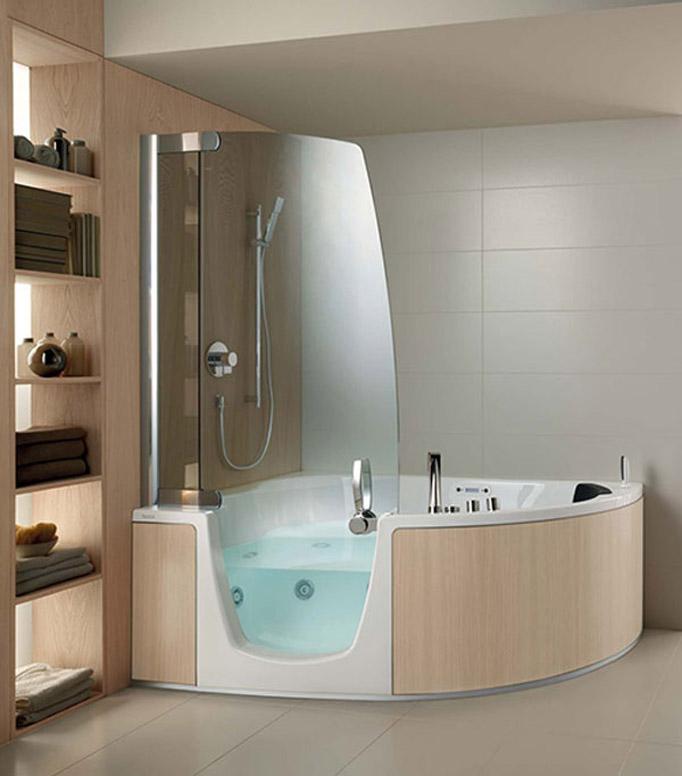Corner Bathtub Shower Combination
