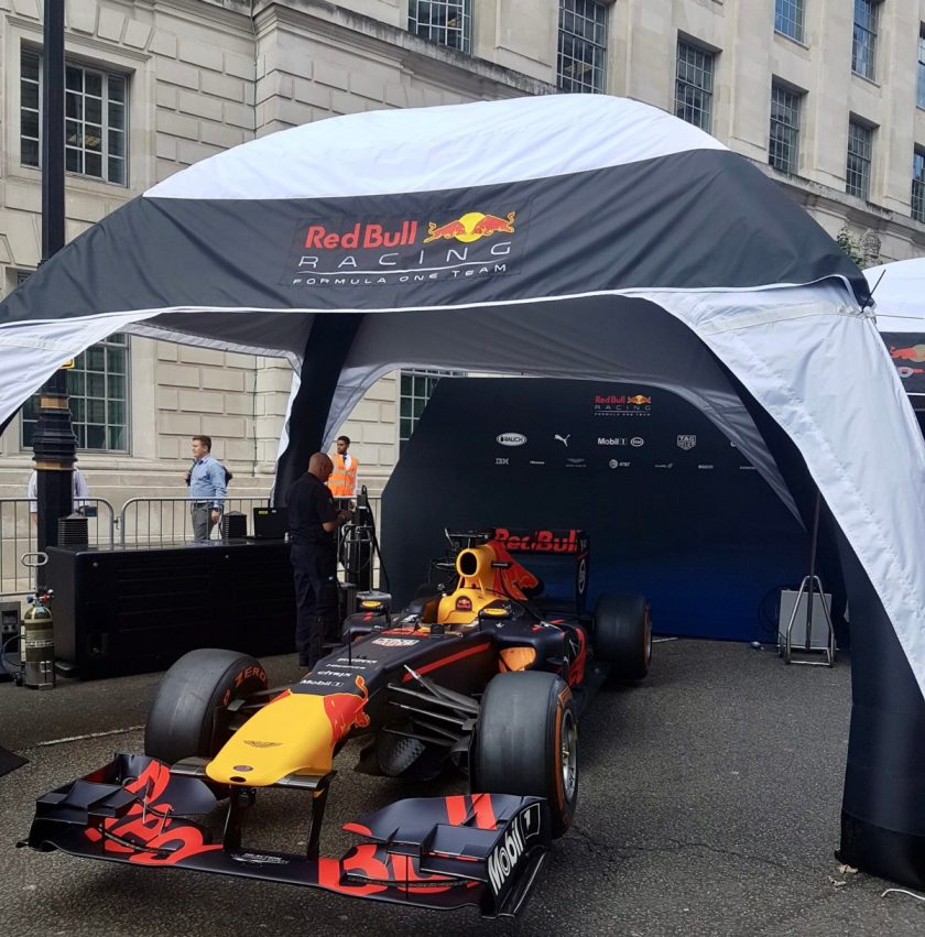 F1 Live London paddock