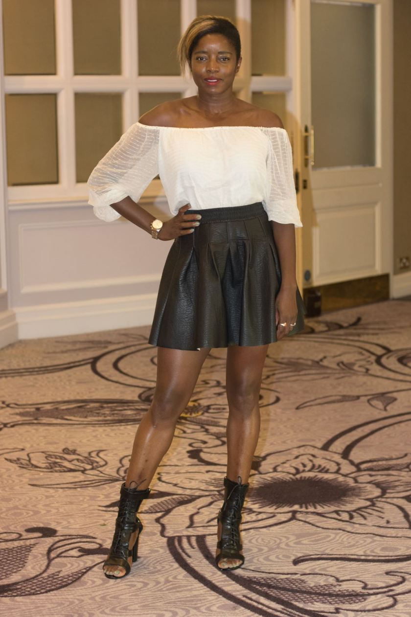 Style Icon Nat wearing Frankie Ankle Boots in Black - London Hilton, Park Lane