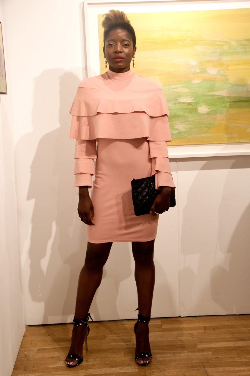 fashion - Pink Ruffle Layer Dress.