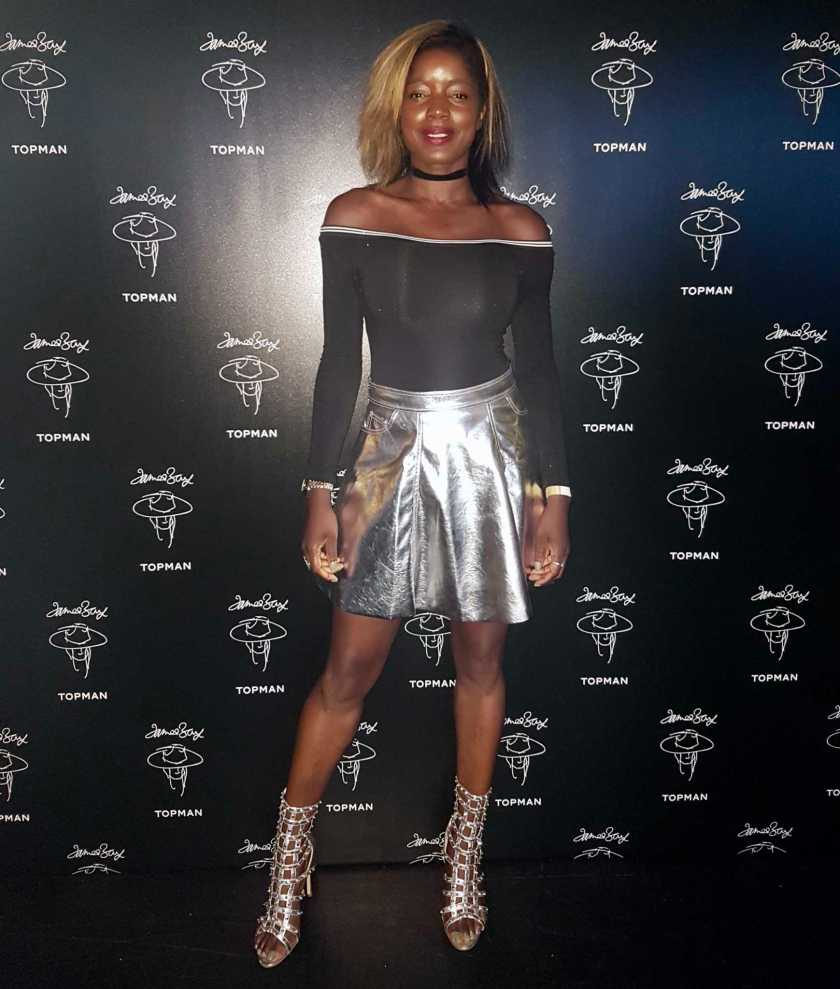 Style Icon Nat wearing Akila Heels in Silver - James Bay x Topman Launch