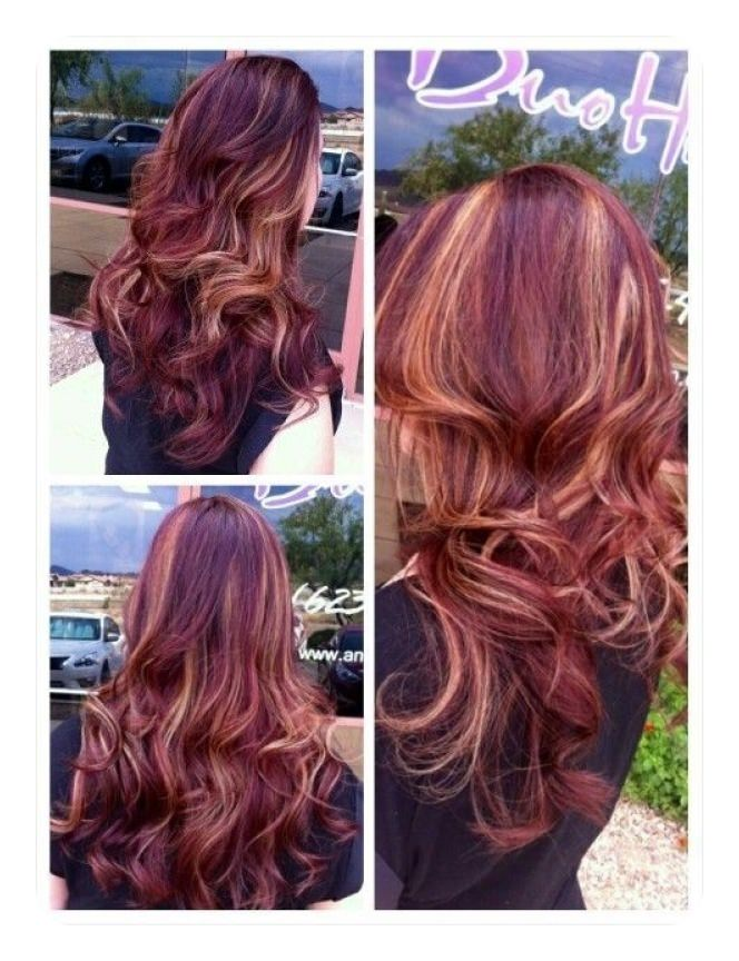 Image Result For Red Highlights On Black Hair Pictures