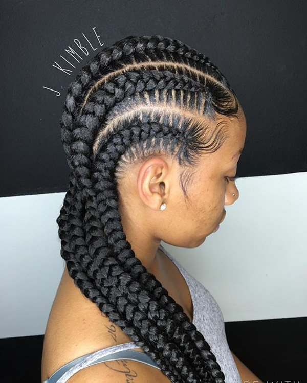 feed in braids hairstyles feed in braid hairstyles. - 5040418 feed in braids 1 2 - Ladies: Choose From These Gorgeous Feed in Braid Hairstyles for your New Look