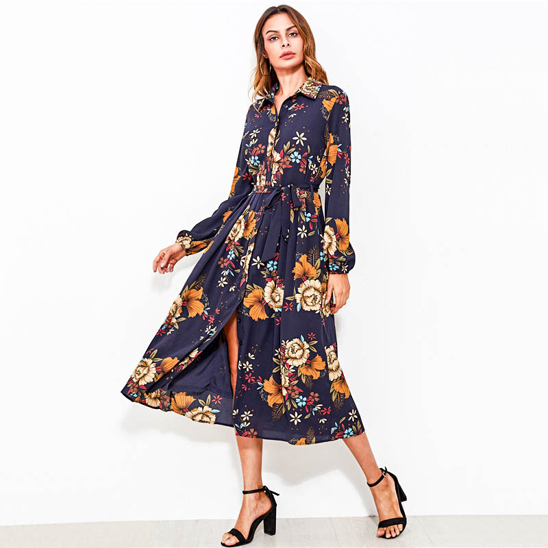 Floral Fit Flare Midi Dress Style Limits