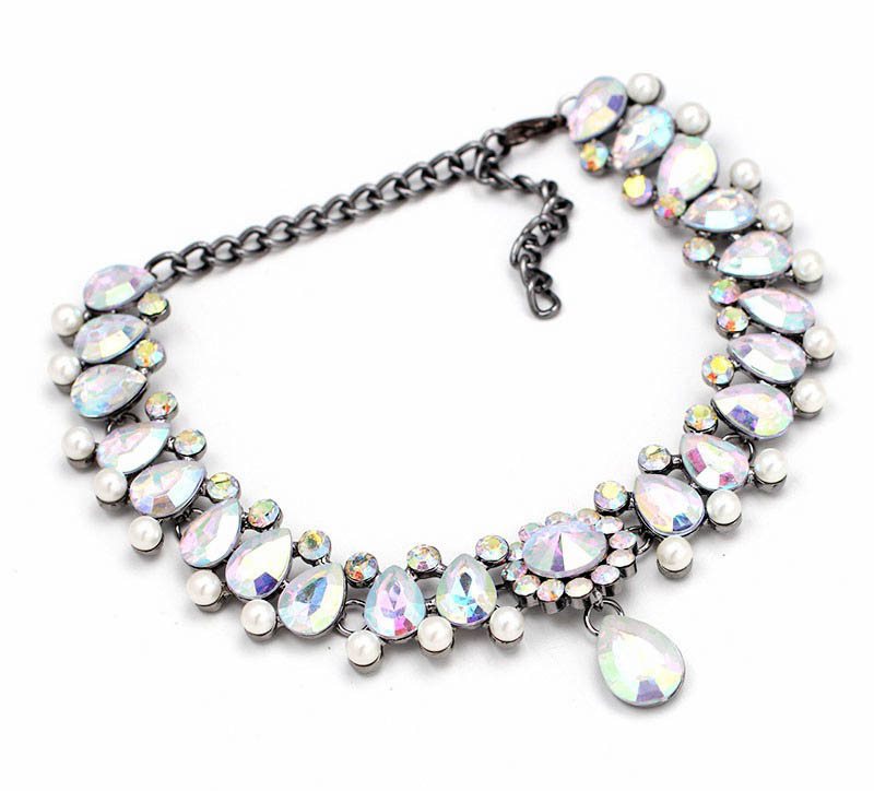necklace simple sweet rhinestone spark products