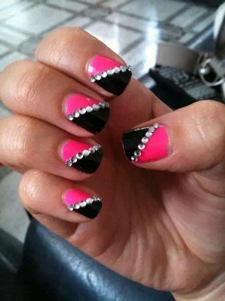 Ombre Nail Art Basic Fancy Gems