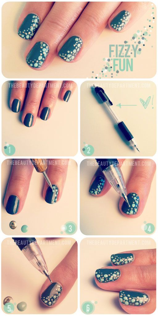 Pink Striped Nail Art Manicure Tutorial Simple Tips View Images