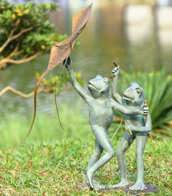 Eclectic Garden Statues And Yard Art Cool Frog