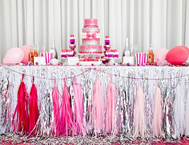 Feel Pretty In Pink As Your Bridal Shower Is Filled With The Perfect Amount Of Because Why Does Theme Have To Be Something Blue