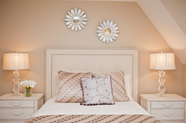 soft peach color walls for sophisticated interior look - style