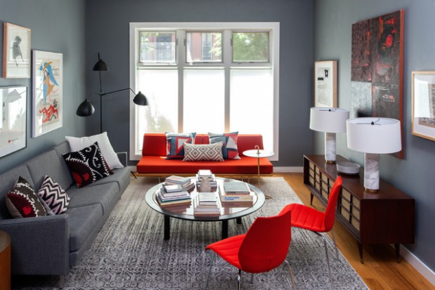 How To Furnish A Living Room With A Red Sofa 16 Stylish Ideas