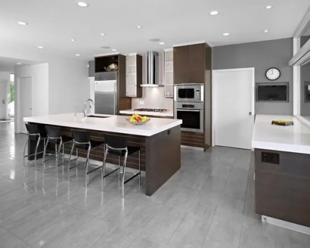 15 Stunning Grey Kitchen Floor Design Ideas   Style Motivation 15 Stunning Grey Kitchen Floor Design Ideas