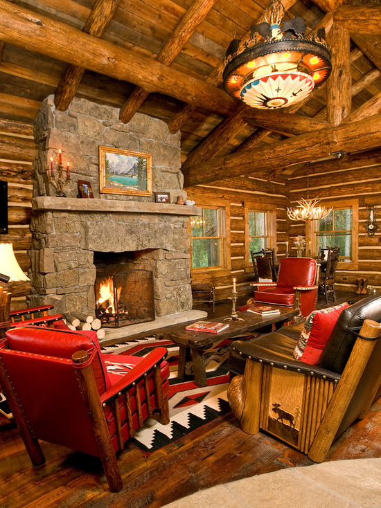 18 Cozy And Rustic Cabin Living Room Design Ideas Style