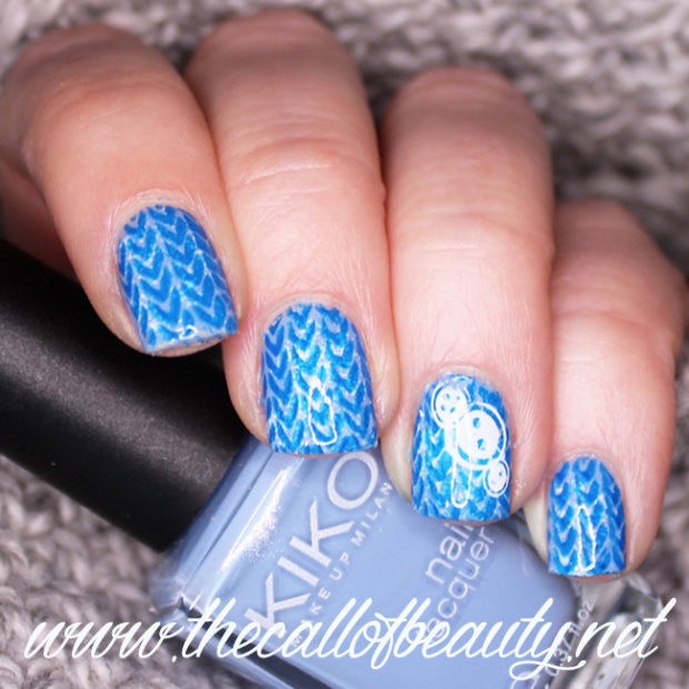 15 Perfect Bination Of Blue And White Color For Cute Winter Nail Art