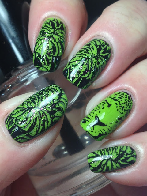 Creative Green Nail Art Ideas inspired by Rainforest