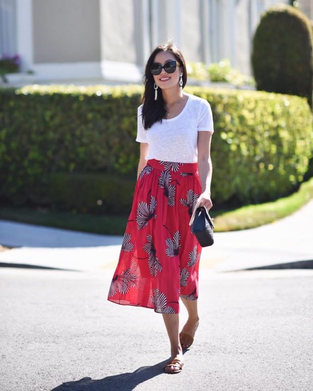 15 Cute Ways To Wear A Midi Skirt This Summer