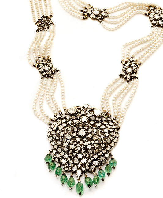Victorian Pearl Necklace- Amrapali