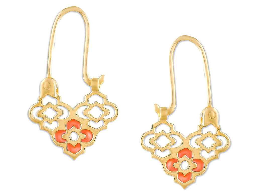 Gold earrings, Mia By Tanishq.