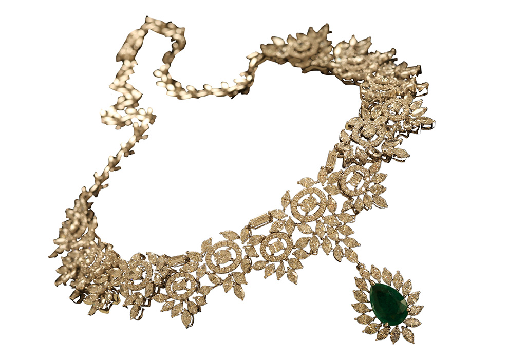 Diamond Necklace With Gems From The Timeless By Madhuri Dixit For PNG. PC- StylePrer