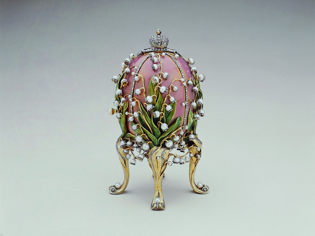 Fabergé Lilies Of The Valley Egg, 1898 (Closed), Courtesy of The Forbes Collection