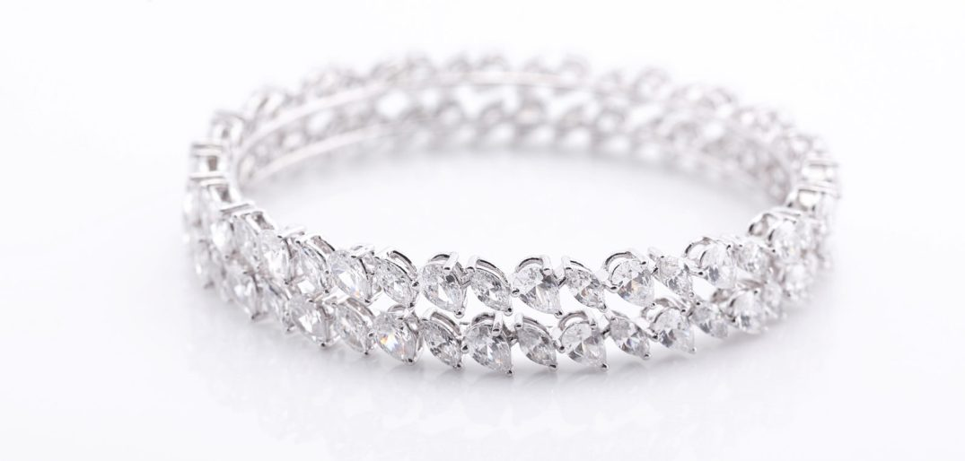 Classic Marquise And Pear Bangle With Swarovski Zirconia. PC- Swarovski Gemstones