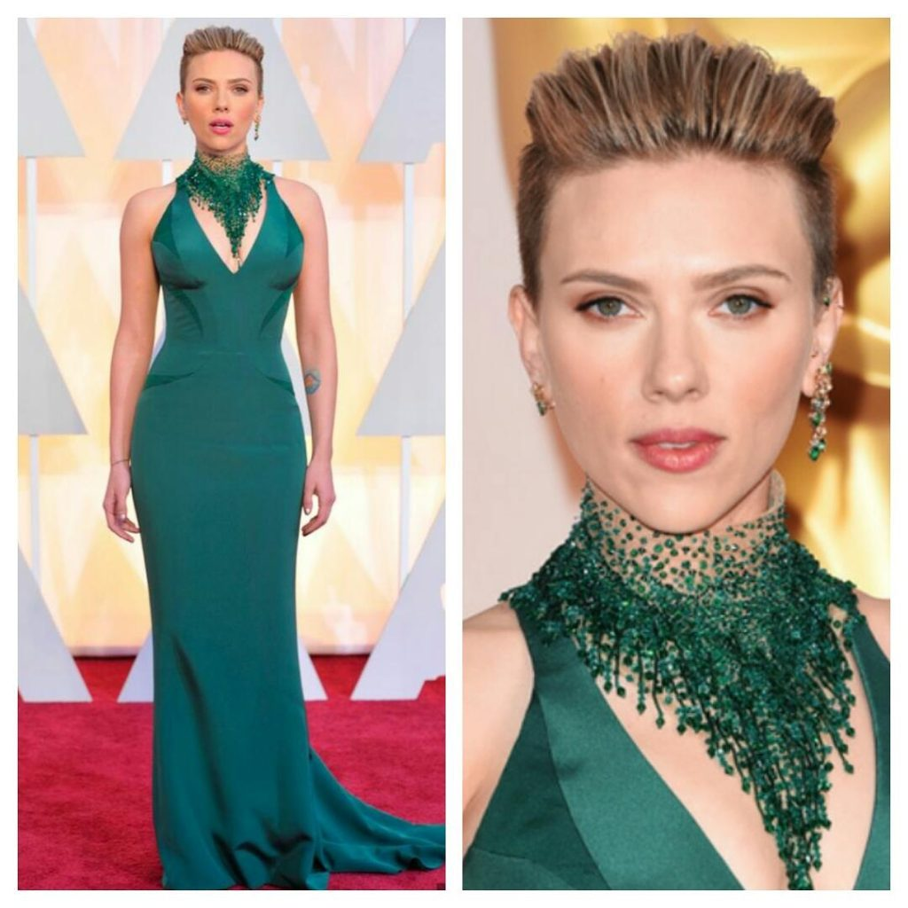 Scarlett Johansson at the Oscars 2015 PC : CableCarCouture