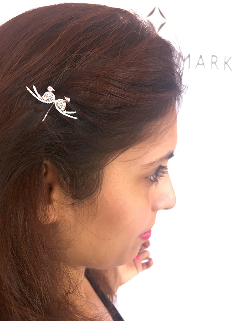 Dainty Bird Hair Pin Studded With Diamonds By DiamondTree