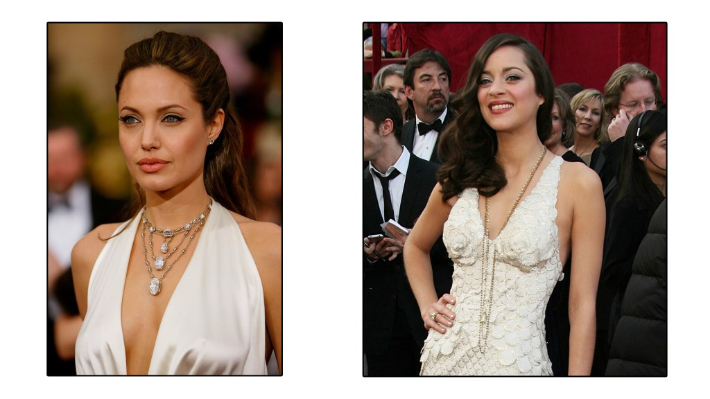 Angelina Jolie and Marion Cotillard show us how it's done in a V Neckline