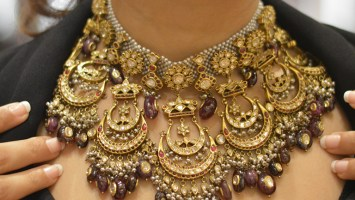 Ruby And Polki Necklace By Tarun Tahiliani For ShriHari DiaGems